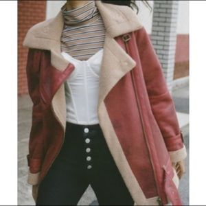 Urban Outfitters Jackets & Coats - Urban Outfitters  Faux Leather Aviator Jacket